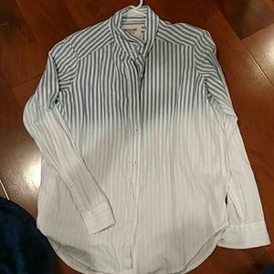 Ombre striped button up